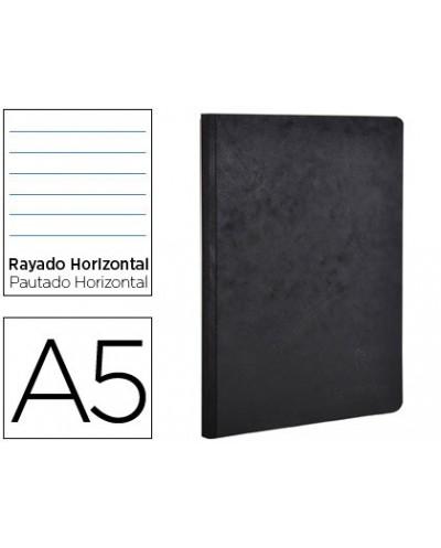 Libreta age bag tapa cartulina lomo cosido rayado horizontal 96 hojas color negro 148x210 mm