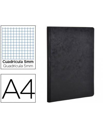 Libreta age bag tapa cartulina lomo cosido cuadro 5 mm 96 hojas color negro 210x297 mm