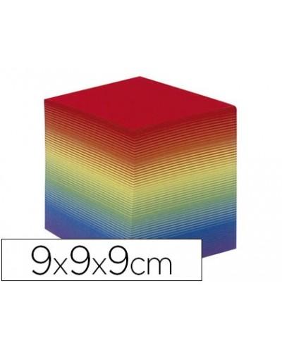Taco papel quo vadis encolado colores arco iris 680 hojas 100 reciclado 90 g m2 90x90x90 mm