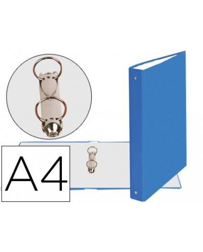Carpeta de 2 anillas 30mm redondas exacompta din a4 carton forrado azul claro