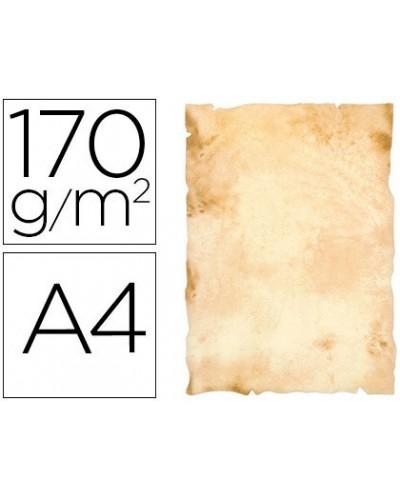 Papel pergamino liderpapel din a4 papiros con bordes 170 g m2 paquete de 8 hojas