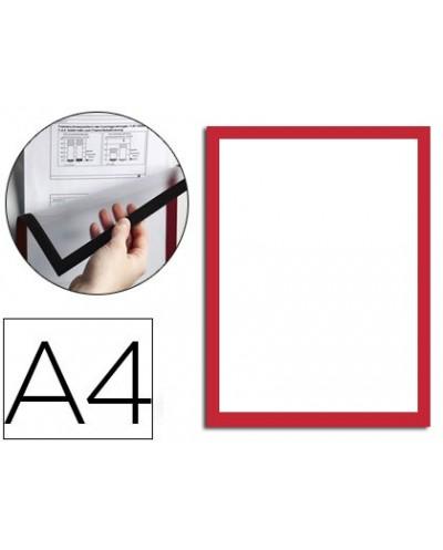 Marco porta anuncios durable magnetico din a4 dorso adhesivo removible para informacion de seguridad