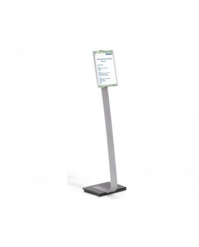 Expositor durable de suelo altura ajustable con panel frontal din a4 uso vertical horizontal color