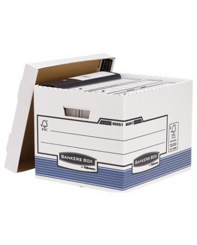 Cajon fellowes carton reciclado para almacenamiento de archivo capacidad 4 cajas de archivo tamano din a4