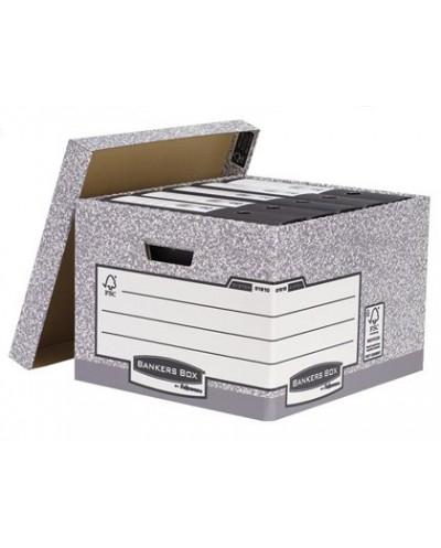 Cajon fellowes carton reciclado para almacenamiento de archivo capacidad 4 cajas de archivo tamano folio