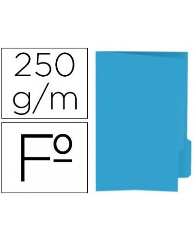Subcarpeta cartulina gio folio pestana derecha 250 g m2 azul