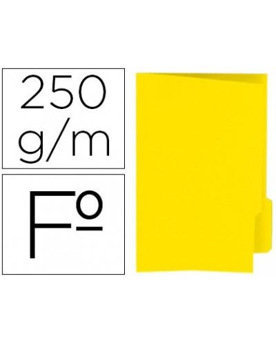 Subcarpeta cartulina gio folio pestana derecha 250 g m2 amarillo