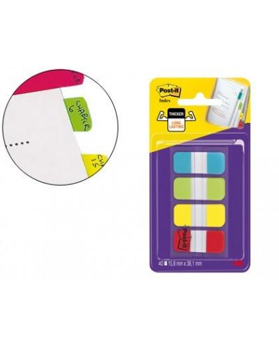 Banderitas separadoras rigidas dispensador 4 colores amarillo azul lima y rojo post it index 676 alyr eu