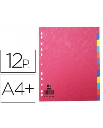 Separador q connect cartulina brillo juego de 12 separadores din a4