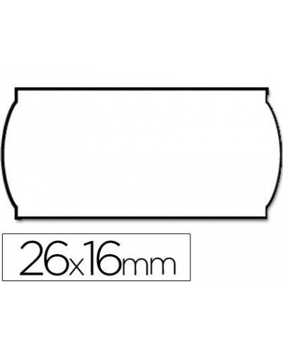 Etiquetas meto onduladas 26 x 16 mm blancaadh2 rollo de 1200 etiquetas troqueladas pt para etiquetadora tovel