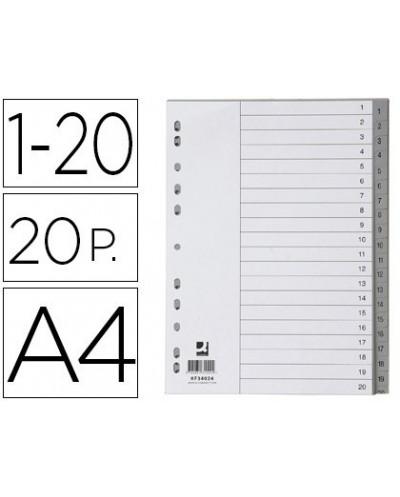 Separador numerico q connect plastico 1 20 juego de 20 separadores din a4 multitaladro