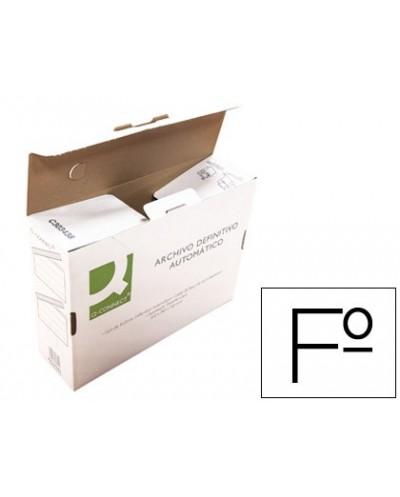 Caja archivo definitivo q connect folio carton reciclado cierre con lengueta 255x360x100 mm