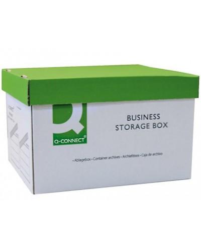 Cajon q connect carton para 3 cajas archivo definitivo a4 lomo de 100 mm montaje manual medidas interior 327x387x250mm