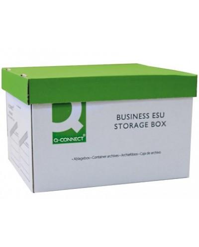 Cajon q connect carton para 3 cajas archivo definitivo a4 lomo 100 mm montaje automaticomedidas interior 327x387x250mm