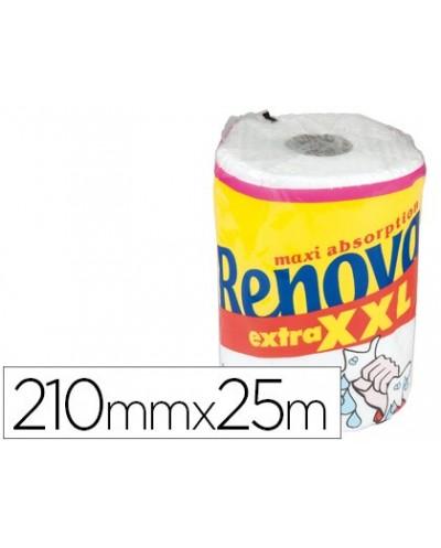 Papel de cocina renova jumbo ultra absorbente 42g m2 ancho 210mm largo 25m