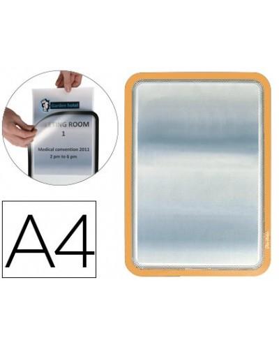 Funda portadocumento q connect din a6 150 micras pvc transparente con unero 105x148 mm