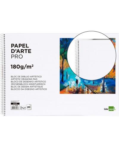Bloc dibujo liderpapel artistico espiral 460x325mm 20 hojas 180 g m2 sin recuadroperforado