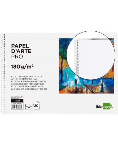 Bloc dibujo liderpapel artistico espiral 230x325mm 20 hojas 180 g m2 sin recuadroperforado