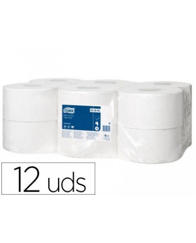 Papel higienico tork minijumbo 1 capa 290 mt para dispensador t2