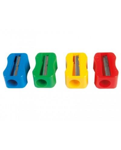 Sacapuntas mr de plastico 1 uso sin tornillo forma rectangular ergonomica