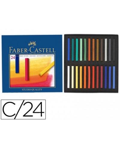 Tiza pastel faber castell estuche carton de 24 unidades colores surtidos