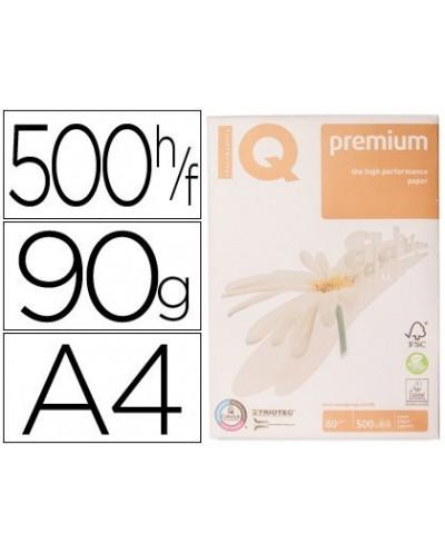 Papel fotocopiadora iq premium din a4 90 gramos paquete de 500 hojas