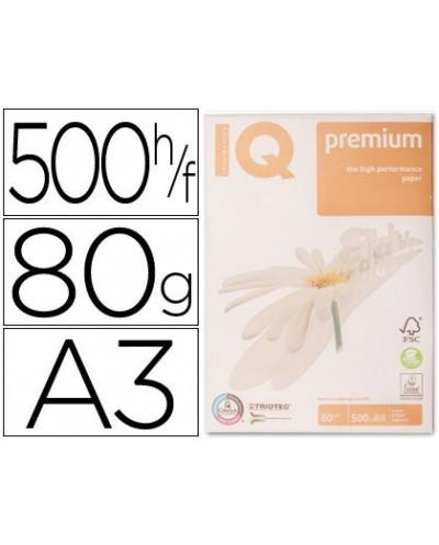 Papel fotocopiadora iq premium din a3 80 gramos paquete de 500 hojas