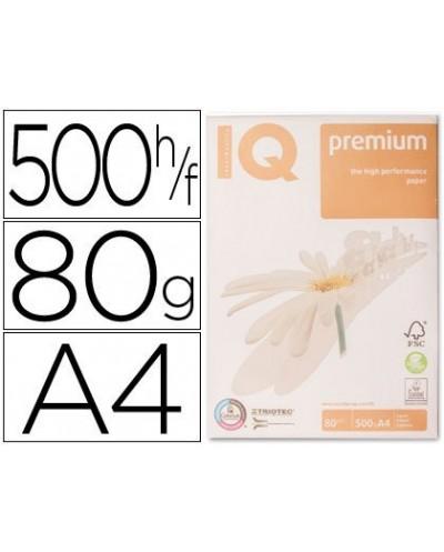 Papel fotocopiadora iq premium din a4 80 gramos paquete de 500 hojas