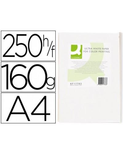 Papel fotocopiadora q connect ultra white din a4 160 gramos paquete de 250 hojas