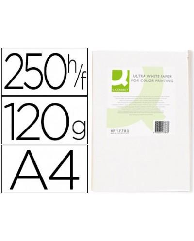 Papel fotocopiadora q connect ultra white din a4 120 gramos paquete de 250 hojas