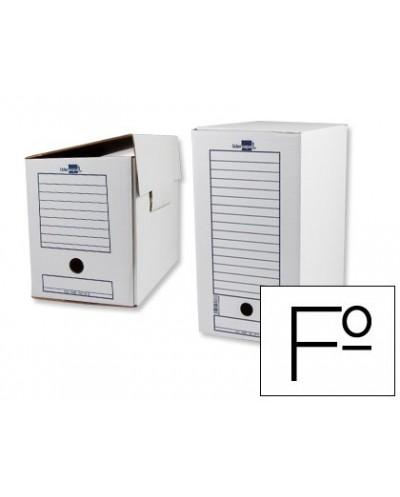 Caja archivo definitivo liderpapel folio doble ancho 367x251x200 mm 325 g m2