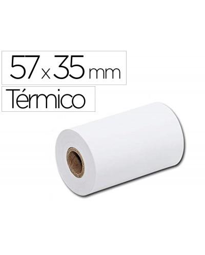 Rollo sumadora termico q connect 57 mm ancho x 35 mm diametro para tpv sin bisfenola