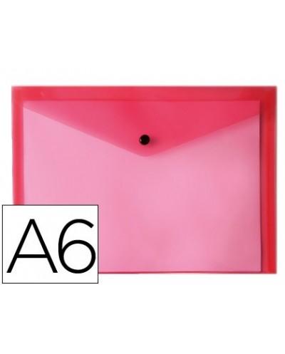 Carpeta liderpapel dossier broche polipropileno din a6 rojo transparente
