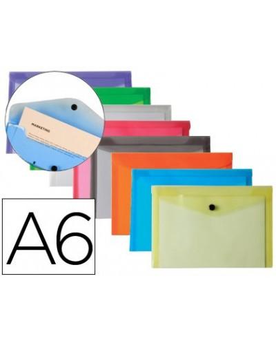 Carpeta liderpapel dossier broche polipropileno din a6 pack de 12 colores surtidos