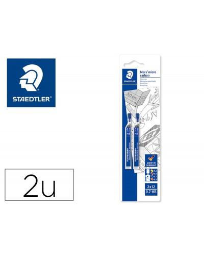Minas staedtler mars micro grafito 07 mm hb tubo con 12 unidades blister de 2 unidades