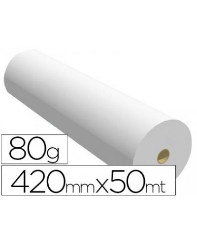Papel reprografia para plotter 420mmx50mt 80gr impresion ink jet
