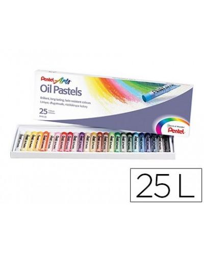 Lapices pentel oil pastel caja de 25 colores surtidos