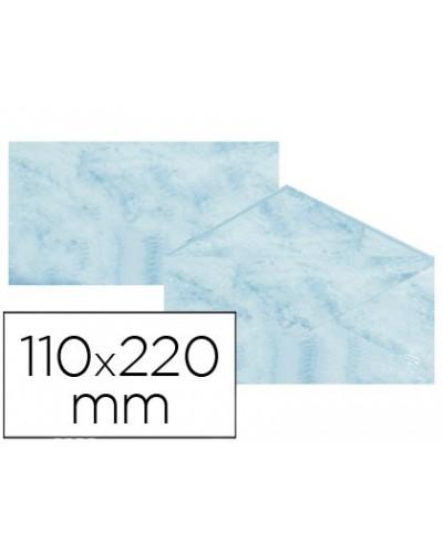 Sobre fantasia marmoleado azul 110x220 mm 90 gr paquete de 25
