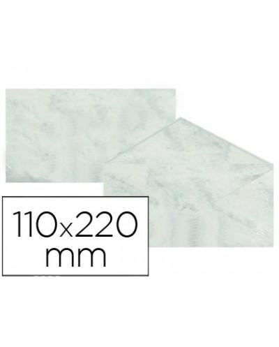 Sobre fantasia marmoleado gris 110x220 mm 90 gr paquete de 25