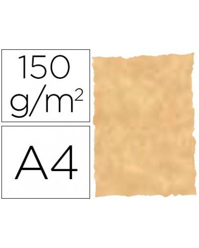 Papel pergamino din a4 troquelado 150 gr color parchment ocre paquete de 25 hojas