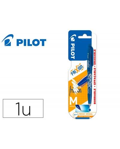 Boligrafo pilot frixion ball borrable 07 mm punta media azul en blister