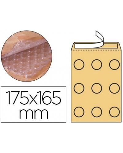 Sobre burbujas crema q connect cd 175 x 165 mm caja de 100