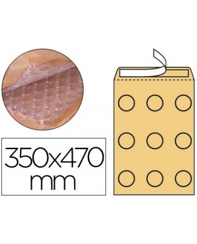 Sobre burbujas crema q connect k 7 350 x 470 mm caja de 50