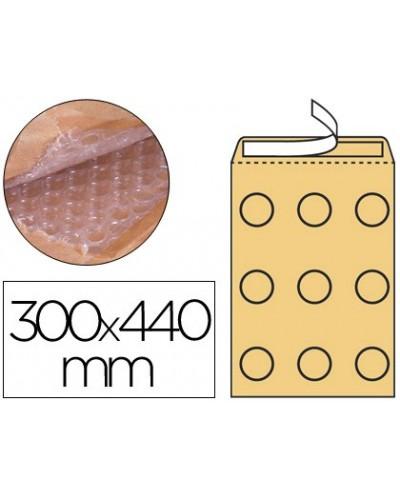 Sobre burbujas crema q connect j 6 300 x 440 mm caja de 50 un