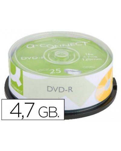 Dvd r q connect con superficie 100 imprimible para inkjet capacidad 47gb duracion 120mivelocidad 16x bote de 25 unid