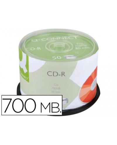 Cd r q connect con superficie 100 imprimible para inkjet capacidad 700mb duracion 80minvelocidad 52x bote de 50 unid