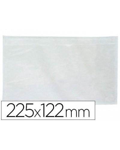 Sobre autoadhesivo q connect portadocumentos 225x122 mm ventana transparente paquete de 100 unidades