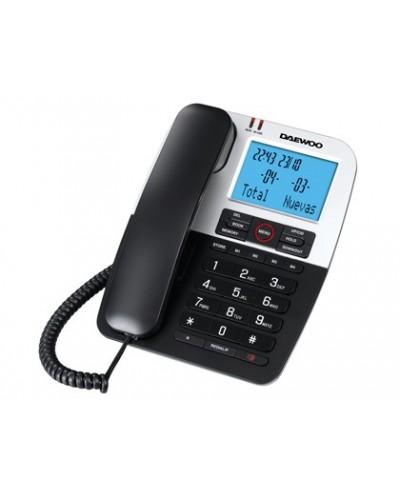 Telefono daewoo dtc 410 manos libres 4 teclas de memoria directa funcion rellamada color negro