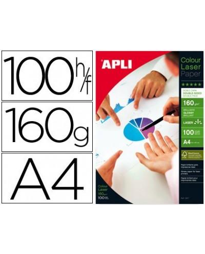Papel fotografico apli glossy doble cara din a4 pack de 100 hojas 160 gr