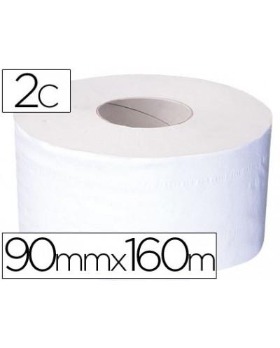 Papel higienico mini jumbo 2 capas 160 mt para dispensador t2